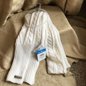 AUTH COLUMBIA CREAM KNIT LONG WARM COZY SCARF NEW!